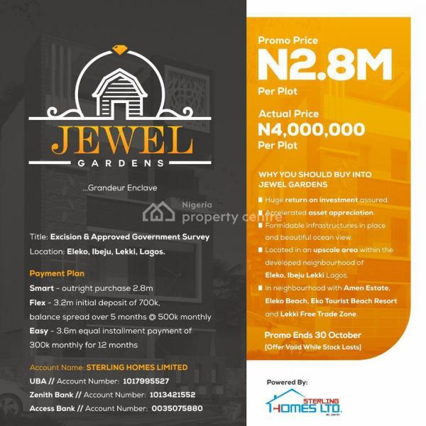 Affordable Land in a Develop Environment, Few Minutes Drive From Eleko Junction, Eleko, Ibeju Lekki, Lagos, Mixed-use Land for Sale