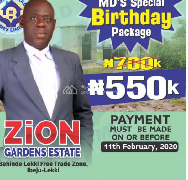 Zion Gardens, Behind Lekki Free Trade Zone, Asegun, Ibeju Lekki, Lagos, Mixed-use Land for Sale
