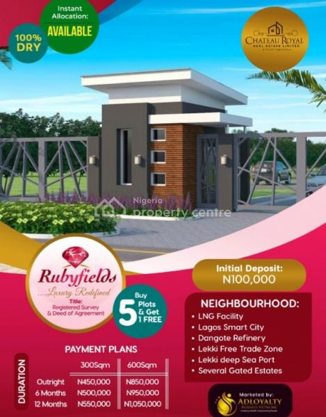 Rubyfields Estate, Few Minutes From Dangote Refinery, Ibeju Lekki, Lagos, Residential Land for Sale