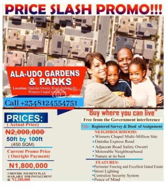 Verified Company Land on Promo, Off Onitsha Owerri Expressway, Owerri, Imo, Residential Land for Sale