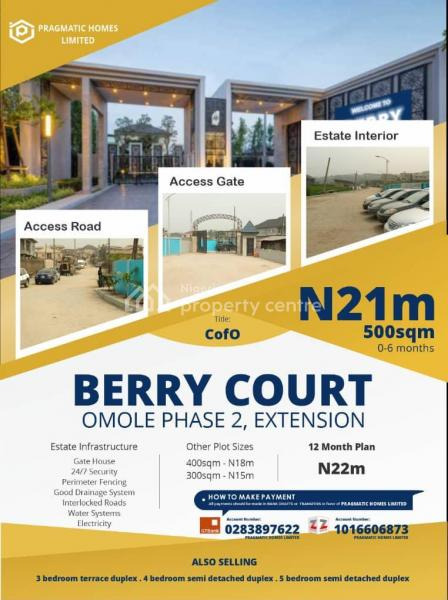 Premium Estate Land - Berry Court, Berry Court, Omole Phase 2, Ikeja, Lagos, Residential Land for Sale