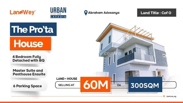 a Luxury Pro'ta House, 5 Minutes Drive From Abraham Adesanya Roundabout, Ogombo, Ajah, Lagos, Detached Duplex for Sale