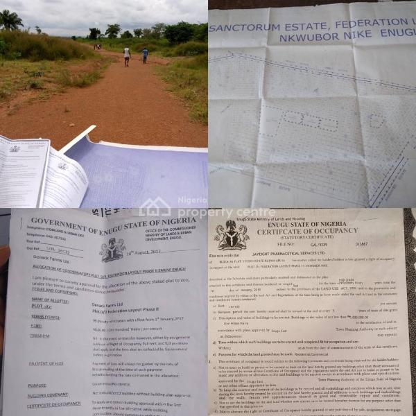 Plots with C of O Available, Behind Nnpc Depot Emene, Enugu State, Enugu, Enugu, Mixed-use Land for Sale