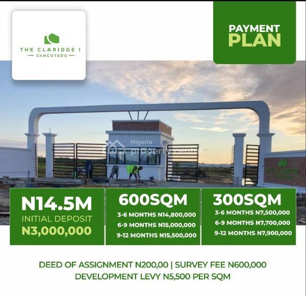 Claridge Phase 1, Sangotedo, Ajah, Lagos, Residential Land for Sale