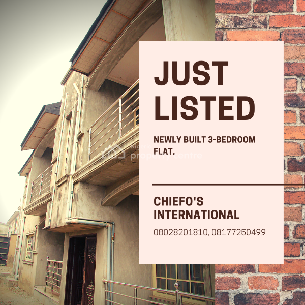 Newly Built 3 Bedroom Apartment in a Quiet Estate, Nelson Cole, Iju Road, Ifako-ijaiye, Lagos, Flat for Rent