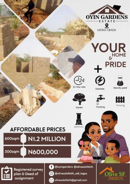 Land, OyÌn Gardens Orile-igbehi Mowe Ofada, Mowe Ofada, Ogun, Residential Land for Sale