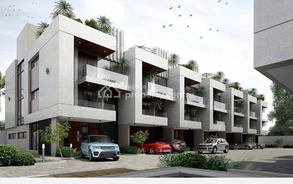 Luxury Newly Built 4bedroom Terrace Duplex with Swimming Pool and Gym, Victoria Island Extension, Victoria Island (vi), Lagos, Terraced Duplex for Sale