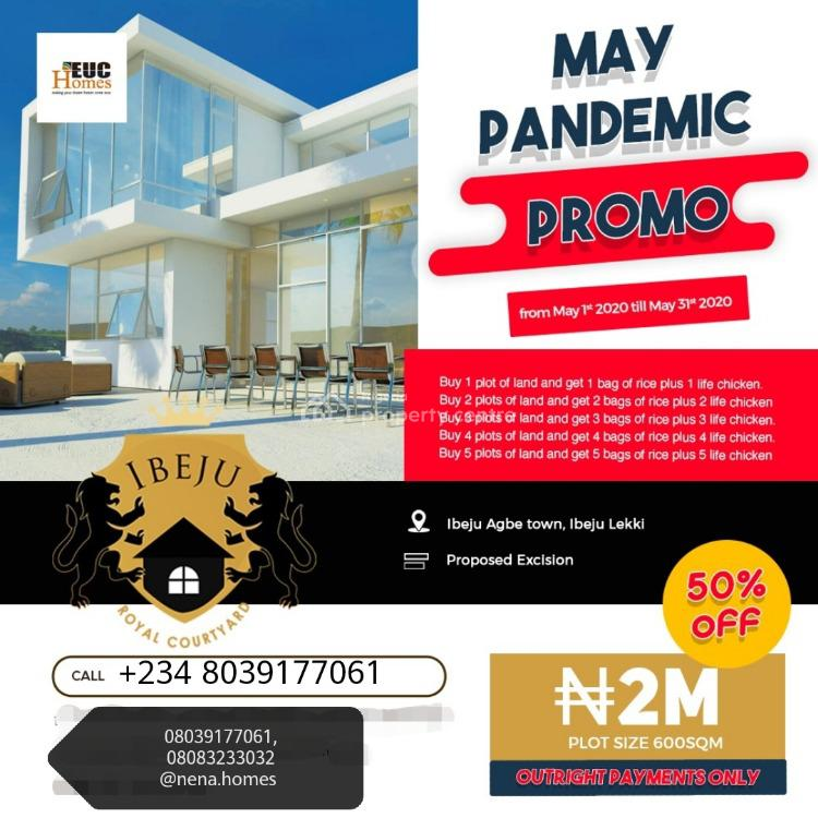 50% Discount Land, Amiable and Serene Environment, Royal Garden Estate, Ibeju-agbe Town, Ibeju Lekki, Lagos, Residential Land for Sale
