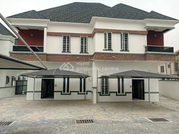 Newly Built 4 Bedroom Semi Detached Duplex with Bq, Daniels Garden; Osapa London, Before Agungi, Osapa, Lekki, Lagos, Semi-detached Duplex for Sale