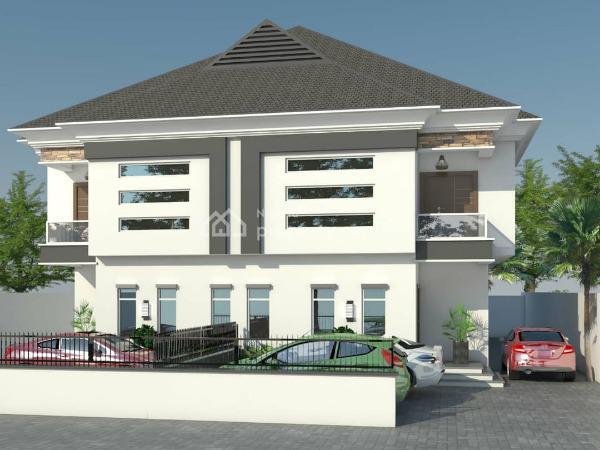 4 Bedroom Semi-detached Duplexes (off-plan), Ocean Bay Estate, Lafiaji, Lekki, Lagos, Semi-detached Duplex for Sale