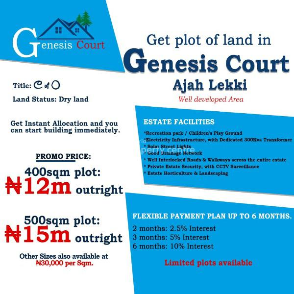Estate Land ., Ajah, Badore, Ajah, Lagos, Residential Land for Sale