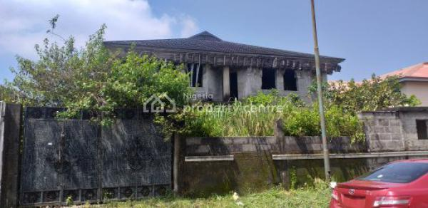Uncompleted Building on Half Plot, Road 36, Vgc, Lekki, Lagos, House for Sale