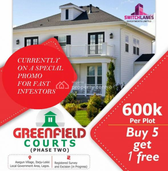 Money Making Affordable Dry Land with High Return on Investment, Few Minutes Drive After The Prestigious La Campaigne Tropicana Beach, Asegun, Ibeju Lekki, Lagos, Mixed-use Land for Sale