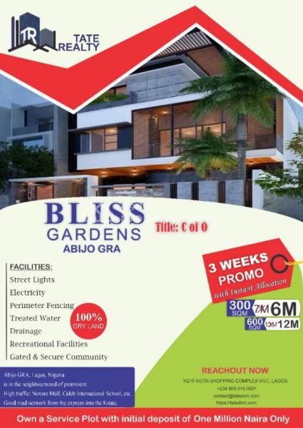 a Luxurious Estate, Abijo Gra, Ibeju Lekki, Lagos, Land for Sale