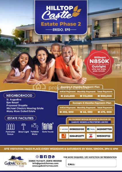 Own a Plot in a Beautiful Estate, Shiraye Road Imokun Eredo Epe, Epe, Lagos, Mixed-use Land for Sale