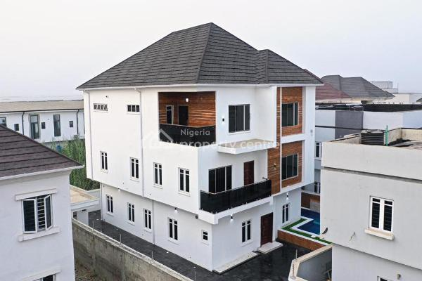 Beautiful 5bedroom Detached House + Swimming  Pool with Inverter, Less Than 2minutes Drive From Ajah Off Badoreroad, Lekki Phase 2, Lekki, Lagos, Detached Duplex for Sale