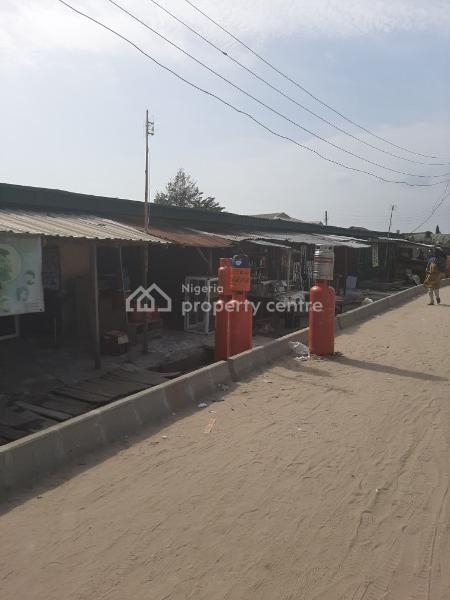 Fenced 4plots of Land with Shops Facing an Interlocking Road, Before Sangotedo Shop Rite, Sangotedo, Ajah, Lagos, Mixed-use Land for Rent