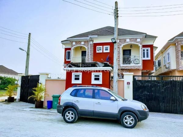 4 Bedroom Corner Piece Semi Detached with Bq in an Estate, Ikota Villa, Ikota, Lekki, Lagos, Semi-detached Duplex for Sale