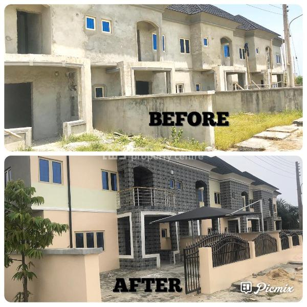 House Situated in The Fastest Developing Area, Atican Beachview Estate, Okun Ajah, 15 Mins Drive From Jubilee Bridge, Ajah, Lagos, Terraced Duplex for Sale