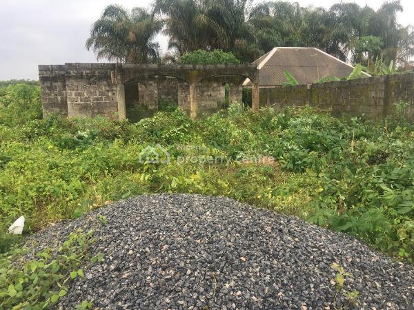 a Plot of Land with Uncompleted  3bedroom Bungalow, Ibeju Town, Ibeju Lekki, Lagos, Residential Land for Sale