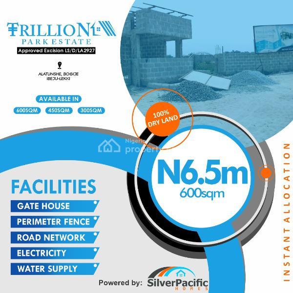 Trillion Park Estate, Alatunshe Community in Bogije, Bogije, Ibeju Lekki, Lagos, Residential Land for Sale