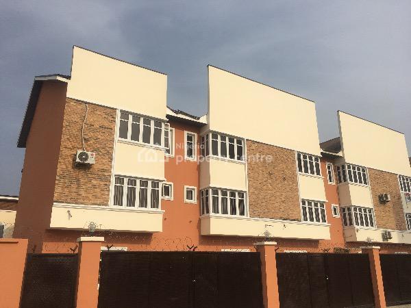 Very Big and Clean. 4 Bedroom Terraced Duplex with a Bq, Orchid Road, Lafiaji, Lekki, Lagos, Terraced Duplex for Rent
