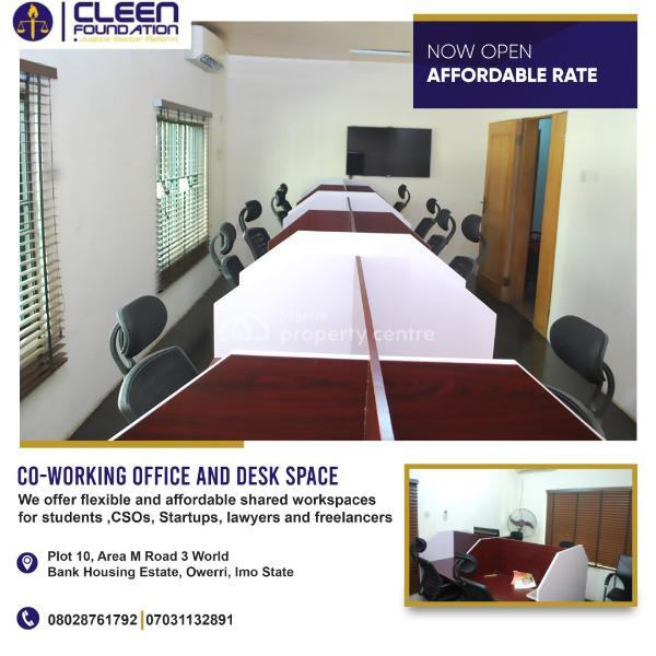 Affordable Office and Desk Spaces, Plot 10 Area M Road 3 Zone D World Bank Housing Estate, World Bank, Owerri, Imo, Office Space for Rent