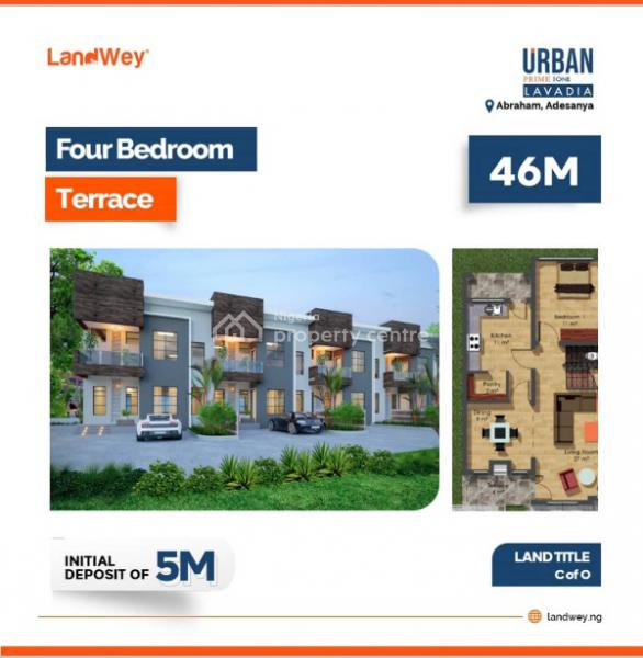 4 Bedroom with Excellent Facilities, Along Abraham Adesanya Road, Ajah, Lagos, Terraced Duplex for Sale