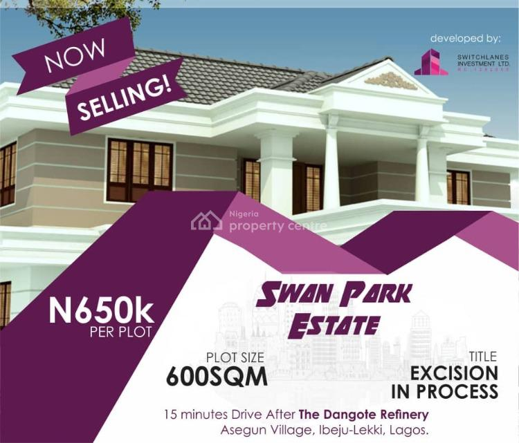 Mixed Use Lands Available, Same Vicinity As La Campagne Tropicana. Videos Available, Asegun, Ibeju Lekki, Lagos, Mixed-use Land for Sale
