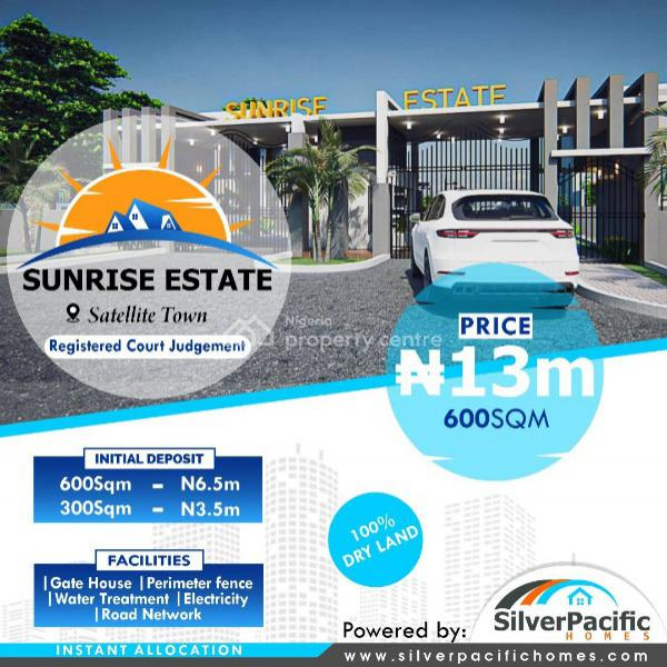 Empty Land, Sunrise Estate, Satellite Town, Satellite Town, Ojo, Lagos, Residential Land for Sale