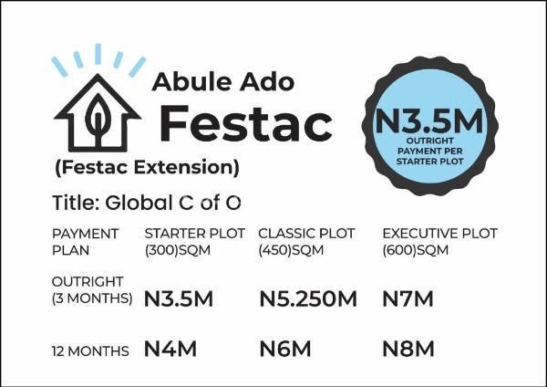 Executive Plots in an Estate, Abule Ado, Satelite, Festac,, Satellite Town, Ojo, Lagos, Mixed-use Land for Sale