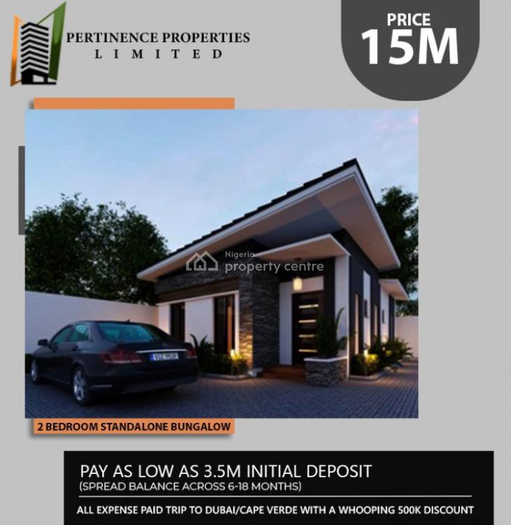 with 6-18months Payment Plan Own a 2bedroom Bungalow, Within Beechwood Estate , Off Lekki Epe Express Way., Bogije, Ibeju Lekki, Lagos, Flat for Sale