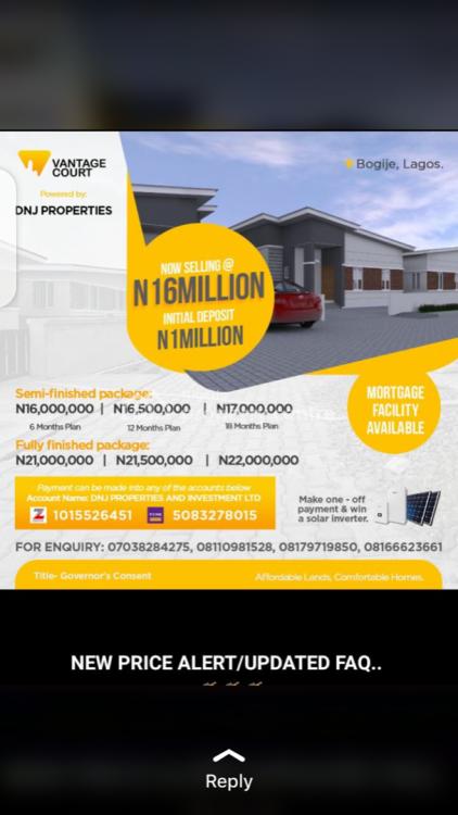 Bungalow, Vantage Court, Bogije, Ibeju Lekki, Lagos, Detached Bungalow for Sale