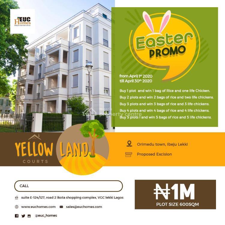 100% Dry Land, Orimedu Town, Ibeju Lekki, Orimedu, Ibeju Lekki, Lagos, Residential Land for Sale