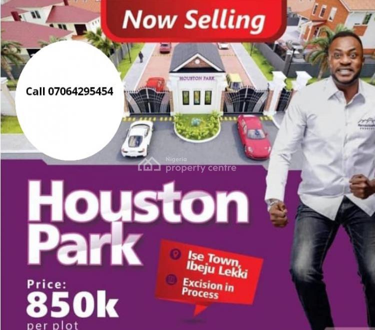 Estate Land, Houston Park  Close to Dangote Sea Port Facing The Tarred Road, Eleko, Ibeju Lekki, Lagos, Residential Land for Sale