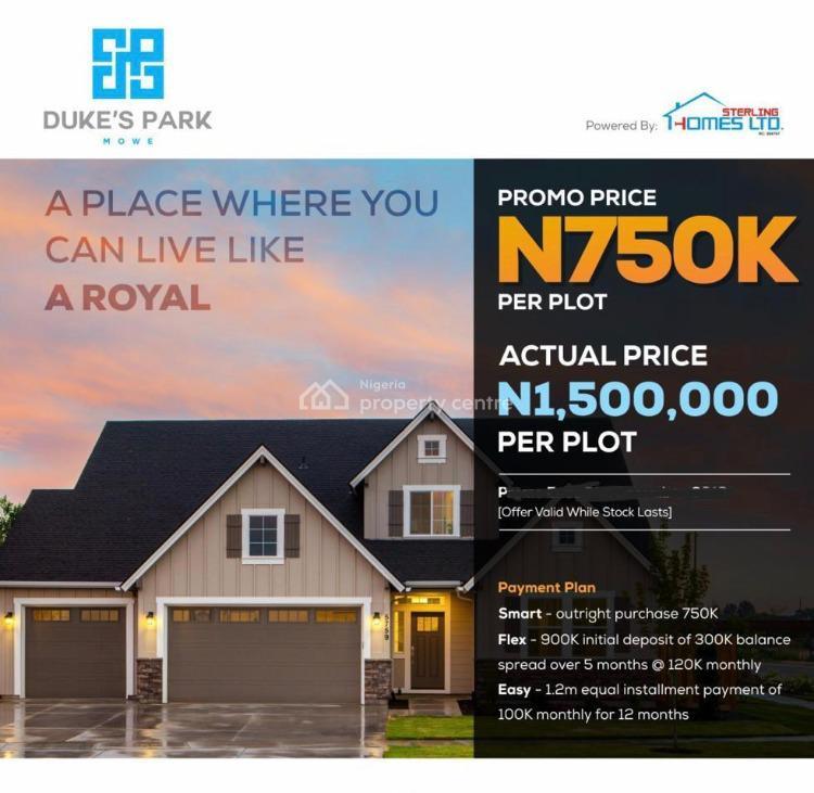 Land, Dukes Park, Mowe Ofada, Ogun, Residential Land for Sale