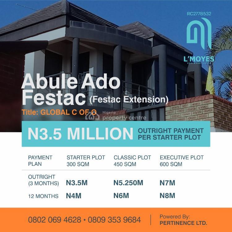 Vip Gardens Service Plots of Land, Abule-ado, Festac, Amuwo Odofin, Lagos, Mixed-use Land for Sale