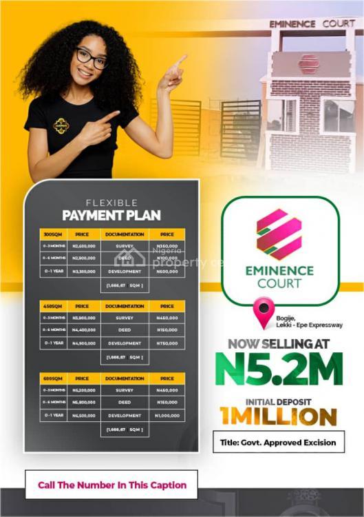 Dry Buy & Build Land Eminence Court, Eminence Court Shapati ., Bogije, Ibeju Lekki, Lagos, Residential Land for Sale