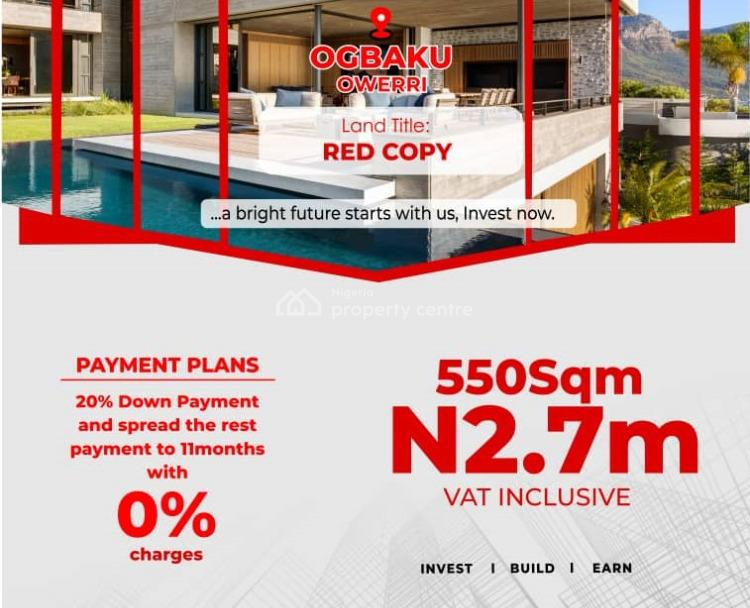 550sqm Plot of Land, Ogbaku, Owerri North, Imo, Residential Land for Sale
