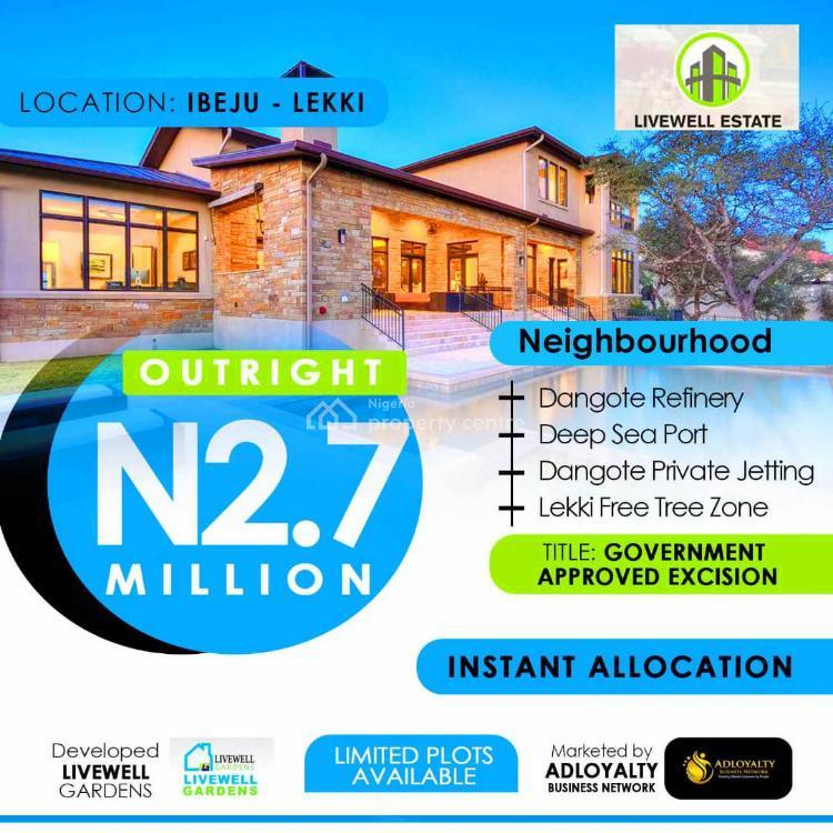 Plots of Land, Livewell Gardens Estate, Ogogoro, Ibeju Lekki, Lagos, Residential Land for Sale