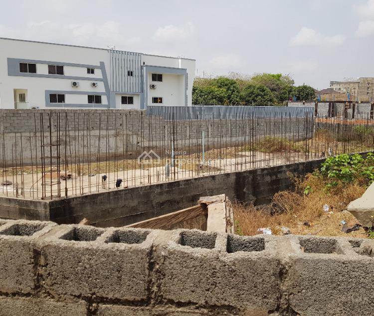 1450sqm Land with Foundation for Twin Duplexes, Nnpc Filling Station Road, Guzape District, Abuja, Residential Land for Sale