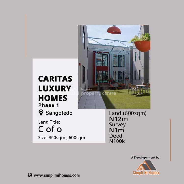 Land, Caristas Luxury Homes, Off Monastery Road Behind Novare Mall Shoprite, Sangotedo, Ajah, Lagos, Residential Land for Sale