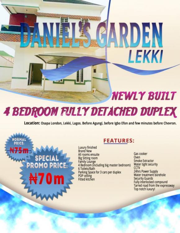 Luxury Newly Built 4 Bedroom Semi-detached Duplex., Osapa London, Few Minutes Before Chevron, Lekki, Lagos, Semi-detached Duplex for Sale
