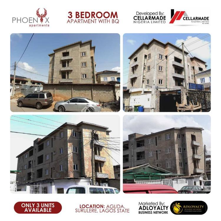 Exquisitely Finished 3 Bedroom Apartment with Bq and C of O, Bolaji Banwo Street, Aguda, Surulere, Lagos, Flat for Sale