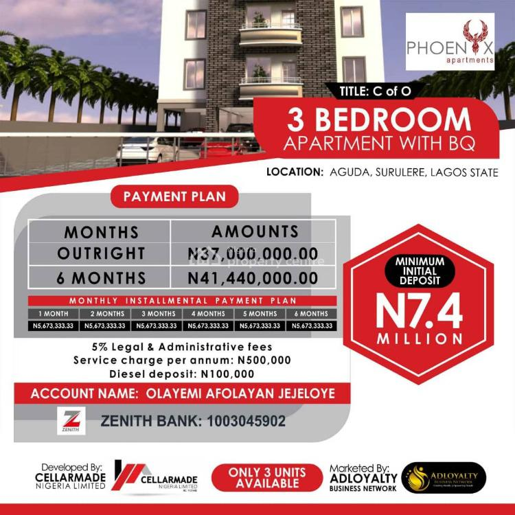 Luxurious 4 Bedroom Block of Flats, 34, Bolaji Banwo Street, Phoenix Apartments ., Aguda, Surulere, Lagos, Flat for Sale
