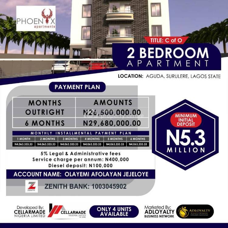 Luxurious 2 Bedroom Apartment, 34,bolaji Bawo Street, Phoenix Apartments., Aguda, Surulere, Lagos, Mini Flat for Sale