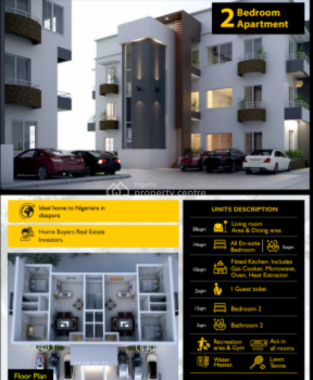 Luxury Two Bedroom Apartment, After Lagos Business School, By General Paint., Ajah, Lagos, Flat for Sale