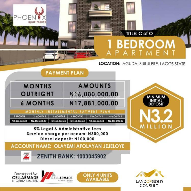 Luxury 1 Bedroom Apartment in a Service Estate, Aguda, Surulere, Lagos, Block of Flats for Sale