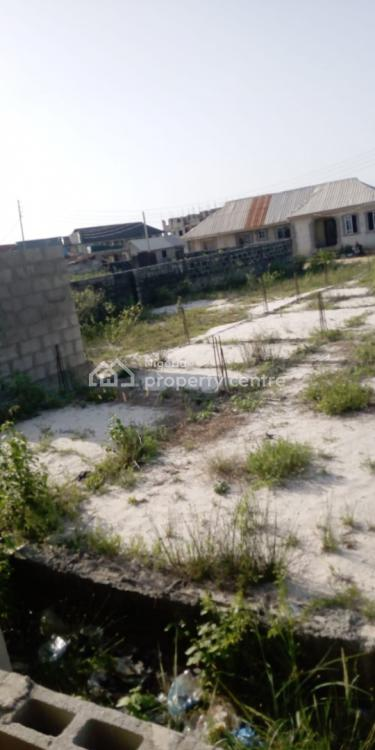 Half Plot of Dry Land with an Uncompleted Building on Lintel Level, Ajah Road, Onosa, Ibeju Lekki, Lagos, Residential Land for Sale