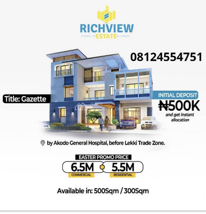 Gazetted Land, Akodo Ise, Ibeju Lekki, Lagos, Residential Land for Sale